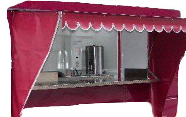 Side Curtains - Mobile Catering Trailer -
